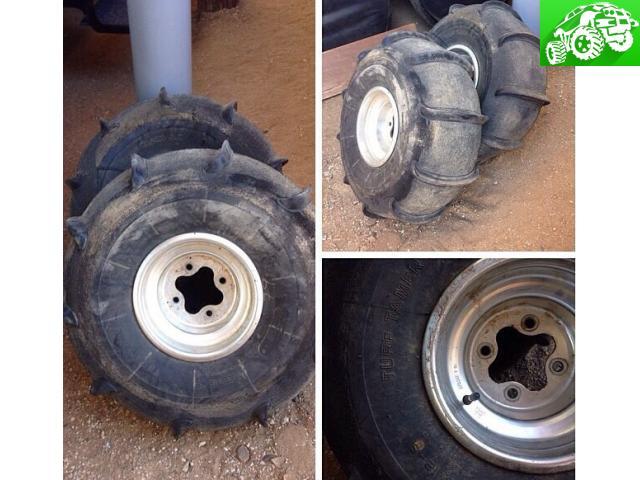 Honda 4x110 wheels and paddle tires