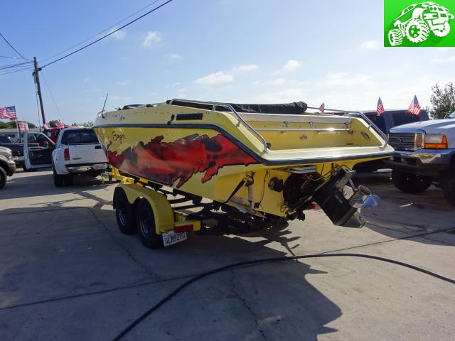 1990 BAJA 22' SPEED BOAT WITH 5.7L 350 TBI MOTOR FRESH REBUILD *YELLOW* *TOP*
