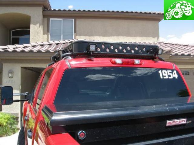 Roof Rack Chase Rack With Hid Rigid Lights For 4 Door