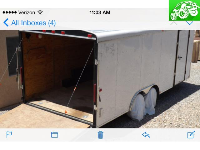 22' enclosed car hauler